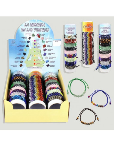 CHAKRA-STONES ENERGY. Thread bracelets with