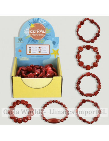 CORAL. Coral apple bracelet. Assorted models