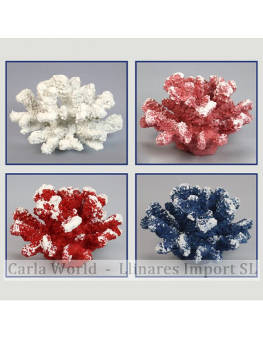 Coral resin. Assorted colours. 13x12x9cm approx.