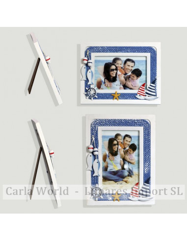 Photo frame. Rope. Vertical and horizontal. 21,5x16,5cm (Photo: 9x14cm)