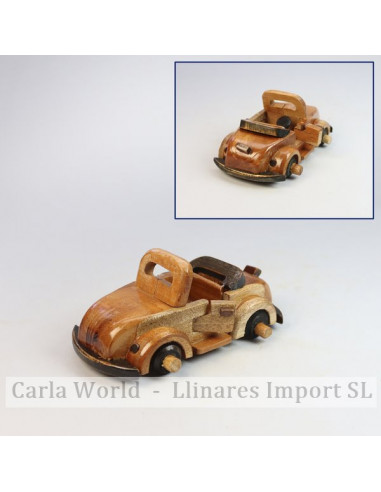 Wooden vehicle. Small open VW 12x6x7cm